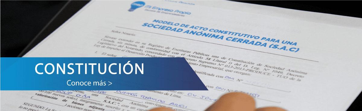 Constitucion Escuela de Emprendedores