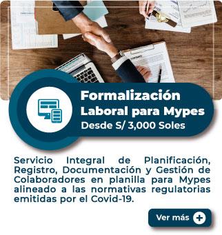 MiEmpresaPropia: Servicio de Formalización Laboral para Mypes